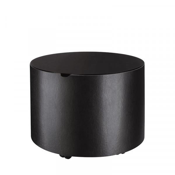 Holzkorb Leder MAMBO, schwarz