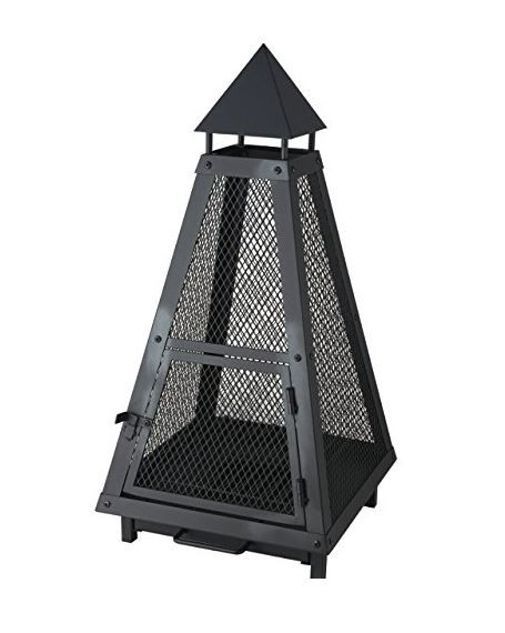 Feuerkorb Pyramide aus Stahl Lienbacher, schwarz beschichtet