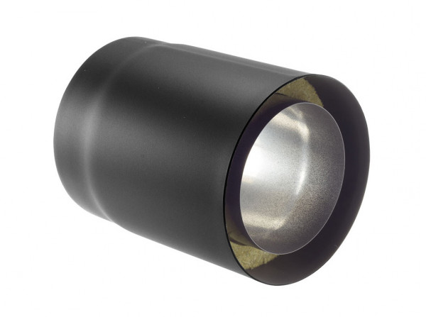 Rauchrohr Stahl doppelwandig 500 mm Ø 150 mm schwarz