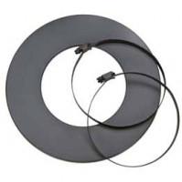 Rosette mit zwei Schellen für isoliertes Aluflexrohr, grau - SMafrrofliso50gr
