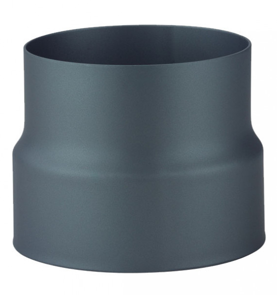 Übergang Rauchrohr Stahl doppelwandig-einwandig Ø 150 mm schwarz