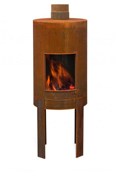 Terrassenkamin Rost Stahl ELDUR Feuercampus365