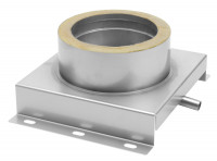 Konsolplatte mit Kondensatablauf doppelwandig Sockel eckig - eka complex D 25 - SM2250113BKSO