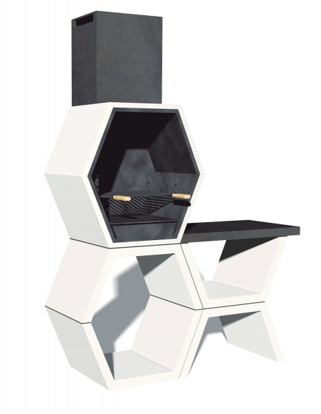 Grillkamin Blive MOD 03 mit Seitentisch