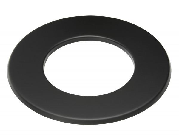 Wandrosette Rauchrohr Stahl Randbreite 30 mm schwarz