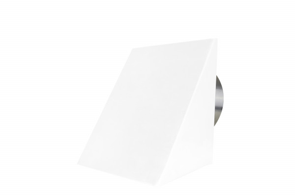 Außenluftgitter 23 x 23 cm mit Haube, weiß