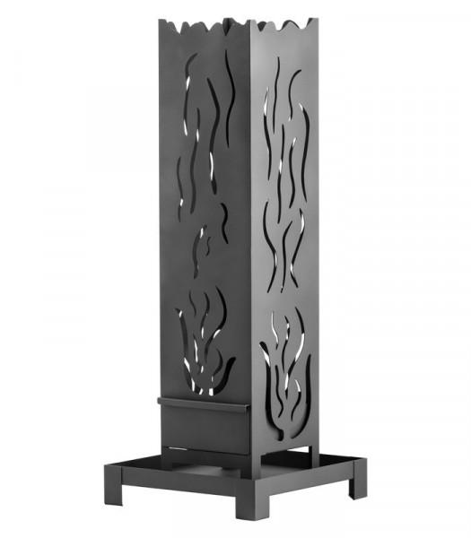Feuersäule Stahl Heibi, 98 x 25 x 25 cm