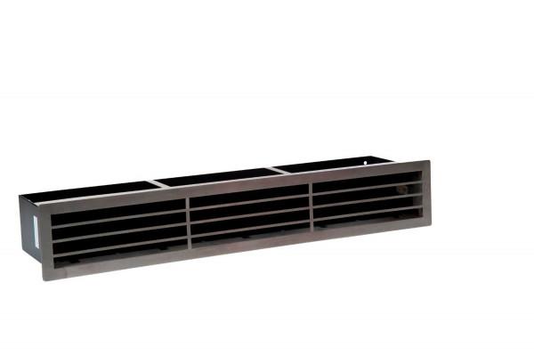 Design-Blende D1 für Luftleiste Edelstahl