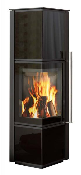 Kaminofen Novaline CANTO AMS Glas schwarz, 6 kW