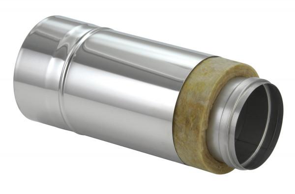 Schornsteinrohr Edelstahl 330 mm doppelwandig kürzbar - eka chromos D 25
