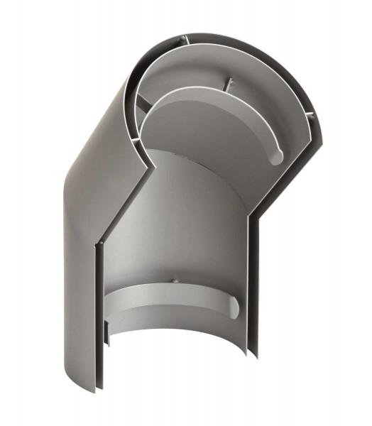 Hitzeschild doppelwandig für Rauchrohrbogen Stahl 45° hellgrau