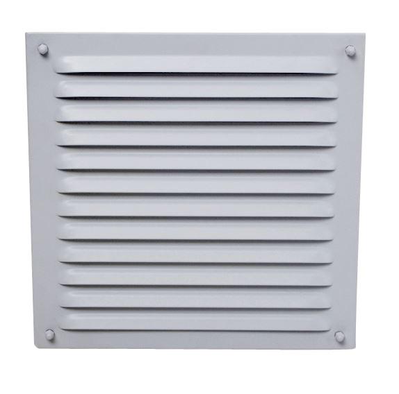 Außenluftgitter 23 x 23 cm mit Anschlussstutzen weiß
