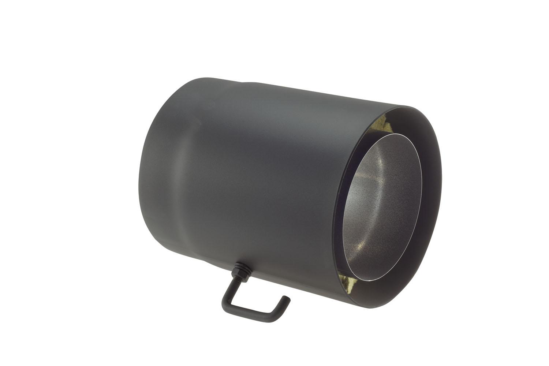 rauchrohr stahl doppelwandig 250 mm 150 mm schwarz drosselklappe kaufen cafiro. Black Bedroom Furniture Sets. Home Design Ideas