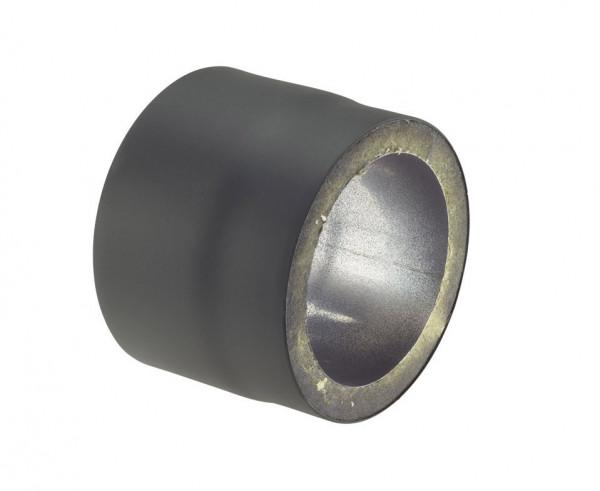 Rauchrohr Stahl doppelwandig 150 mm Ø 150 mm schwarz