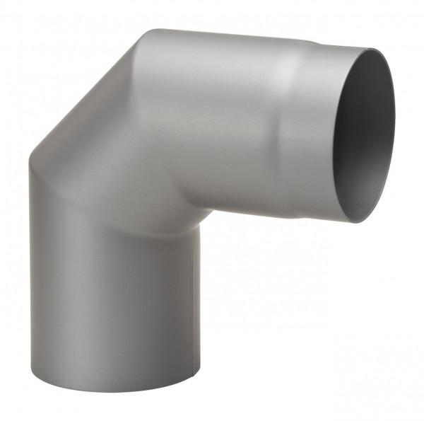 Rauchrohrbogen Stahl 2x 45° hellgrau