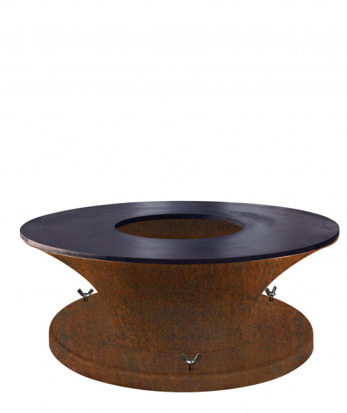 Feuerschale mit Grillplatte Plancha Rost Stahl CIRCUS M Feuercampus365