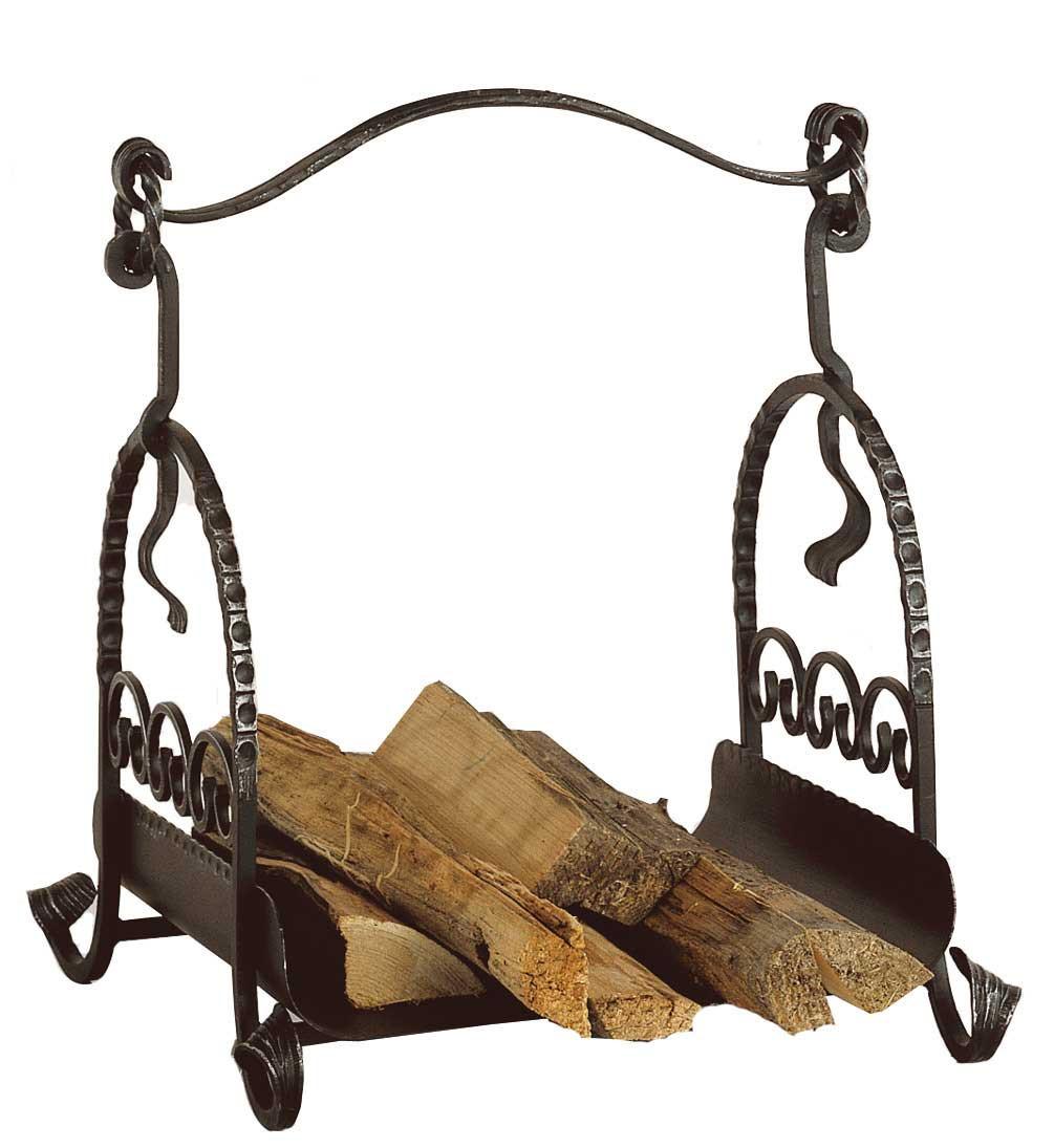 *NEU*: Holzablage aus Schmiedeeisen, schwarz-antik