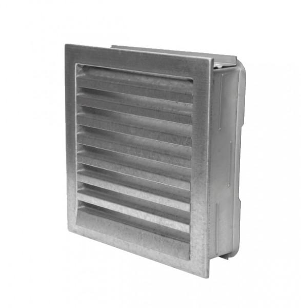 Außenluftgitter 23 x 23 cm mit Einbaurahmen verzinkt