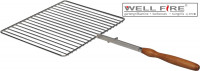 Grillrost Edelstahl für Schwenkarm 42,3 x 35,3 cm - SMN210901