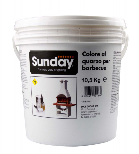 Grillkamin Putzfarbe 10 kg weiß