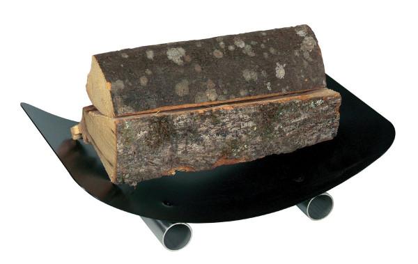 Holzliege Stahl Lienbacher, schwarz beschichtet