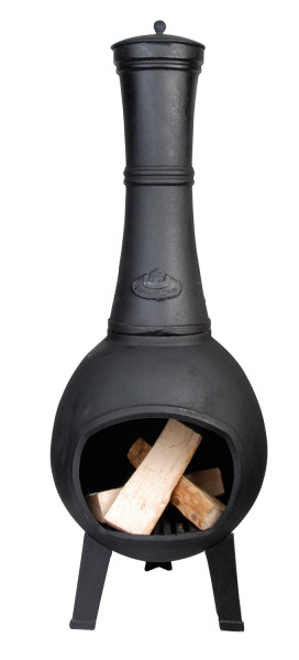 Terrassenofen Guss 110 x Ø 45 cm, schwarz