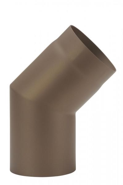 Rauchrohrbogen Stahl 45° Ø 150 mm braun