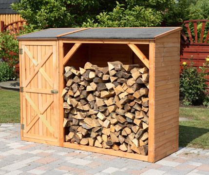 Promex Brennholzschrank PFORZHEIM mit Gerätesch...