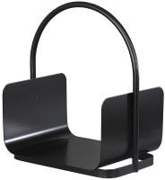 Holzkorb TIMBER-1 aus Stahl mit Tragegriff, schwarz - SM04.34.0350