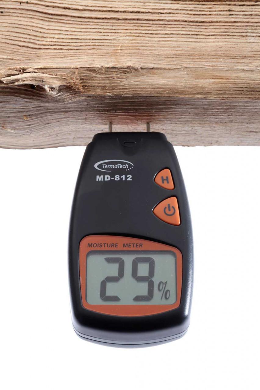 TermaTech Holzfeuchtemessgerät MD 812 inkl. Aufbewahrungstasche