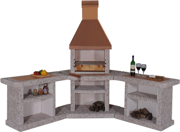 Outdoor Küche Kaufen : Outdoorküche grillkamin wellfire toskana kupferhaube kaufen cafiro