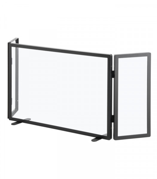 Funkenschutz Glas Heibi 3-teilig, 111 x 47 x 15 cm