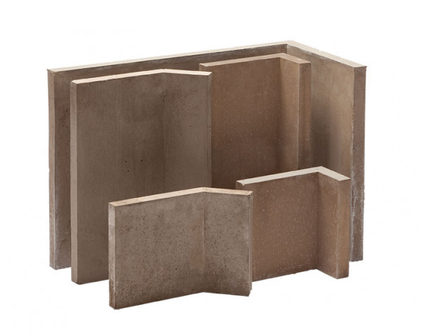 Kaminbauplatte Winkel 90°, 250 x 125 x 250 x 35 mm