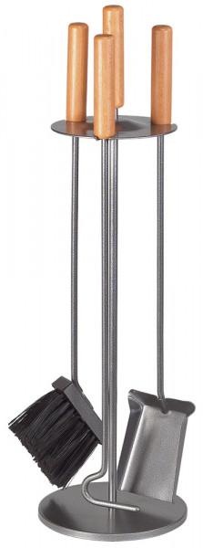 Kaminbesteck SLENDER-1 aus Stahl, 3- teilig, anthrazit