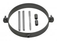 Halteschellen Set für Rauchrohr Stahl schwarz - SM12-520