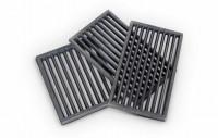 Ofenrost RP2 Gusseisen schwarz, 18 x 22 x 1,5 cm - SM802056