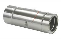 Schornsteinrohr Edelstahl 540 mm doppelwandig mit Prüföffnung - eka complex D 25 - SM2250130L5KDISO