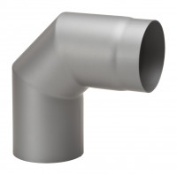 Rauchrohrbogen Stahl 2x 45° hellgrau - SM12-251