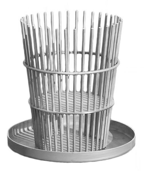 Ricon Feuerkorb STAB, Edelstahl mit Auffangschale, H 60 cm