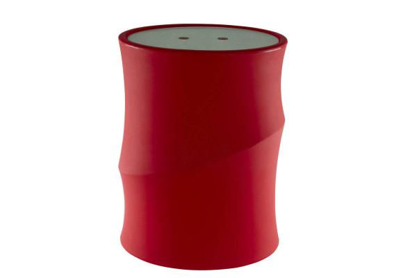 Pelleteimer mit Deckel, rot