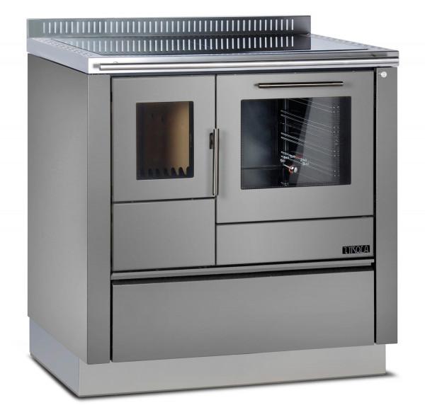 Holzherd Greithwald TRA 80 emailliert grau, 7 kW