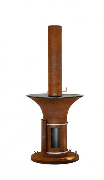 Feuerschale mit Grillplatte Plancha Rost Stahl CIRCULUS Feuercampus365