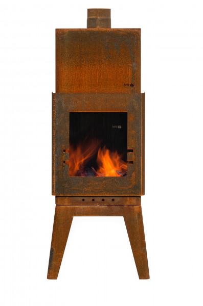 Terrassenofen Rost Stahl BAKKUS Feuercampus365