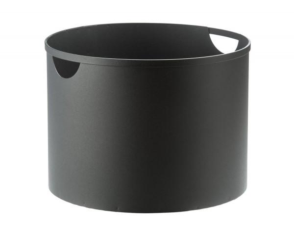 Holzkorb Stahl Ø 40 cm, schwarz