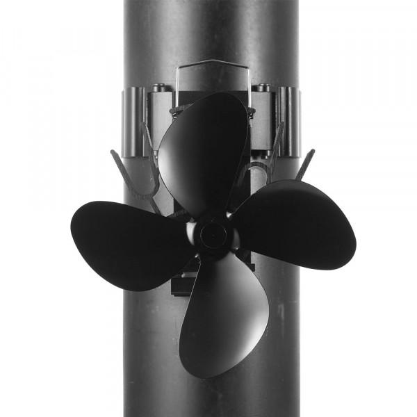 Kaminofen Ventilator mit Halterung M400, schwarz