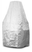 Grillkamin Abdeckhaube aus PE Gewebe weiß 224 x 120 x 80 cm - SM40180031