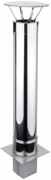 Schornsteinverlängerung 0,5 m doppelwandig Edelstahl - konfigurierbar