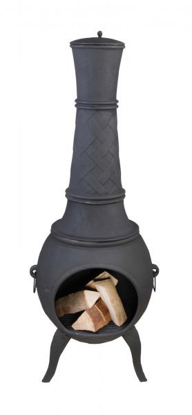Terrassenofen Guss 150 x Ø 45 cm, schwarz