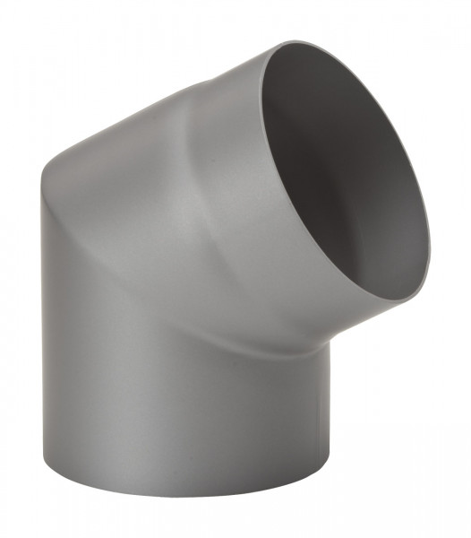 Rauchrohrbogen Stahl 60° Ø 150 mm hellgrau