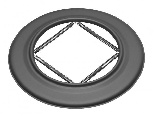 Wandrosette mit Feder für Rauchrohr Stahl schwarz